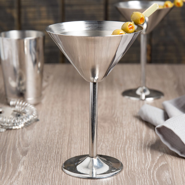 bd227d92327 Tablecraft MCSS10 10 oz. Stainless Steel Martini Glass