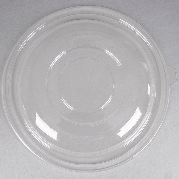 Fineline 5160-L Super Bowl Clear PET Plastic Dome Lid for 160 oz. Bowls  - 25/Case