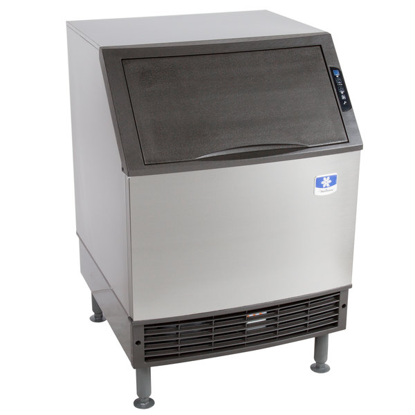 Manitowoc UYF0240W NEO 26 inch Water Cooled Undercounter Half Dice Cube Ice Machine with 90 lb. Bin - 115V, 207 lb.