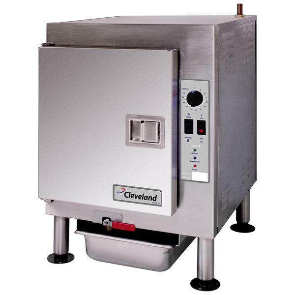 Cleveland 1SCEMCS SteamCub 5 Pan Electric Countertop Steamer - 240V, 12 kW