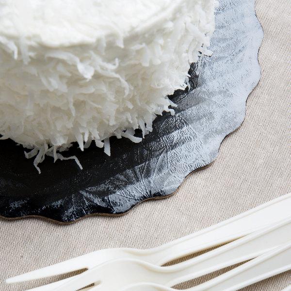 "Enjay SW-9RSBEMB 9"" Black Laminated Corrugated Cake Circle - 25/Pack Main Image 4"