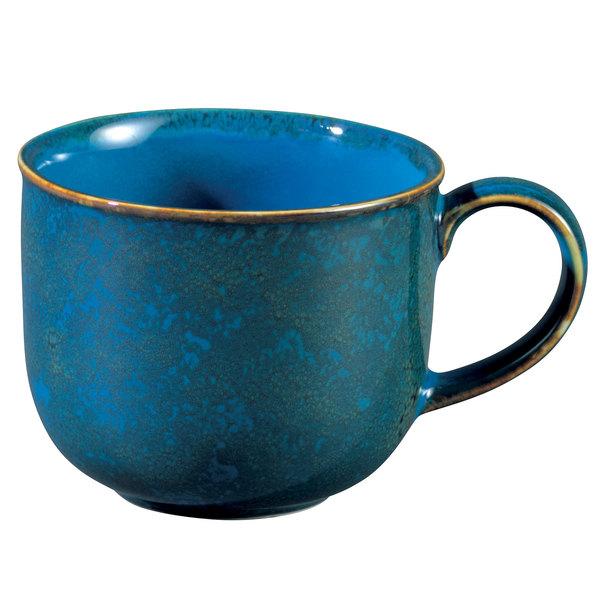 Oneida F1468994042 Studio Pottery Blue Moss 11.75 oz. Porcelain Mug - 24/Case