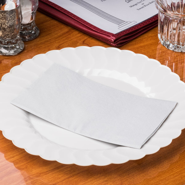 "Hoffmaster 180518 Dove Gray 15"" x 17"" 2-Ply Paper Dinner Napkin - 1000/Case Main Image 7"