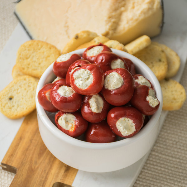 Castella 2.4 lb. Zesty Pepps Stuffed with Garlic Herb Cream Cheese - 2/Case