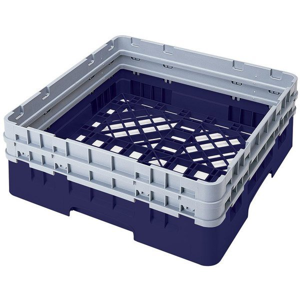 Cambro BR578186 Navy Blue Camrack Full Size Open Base Rack with 2 Extenders Main Image 1