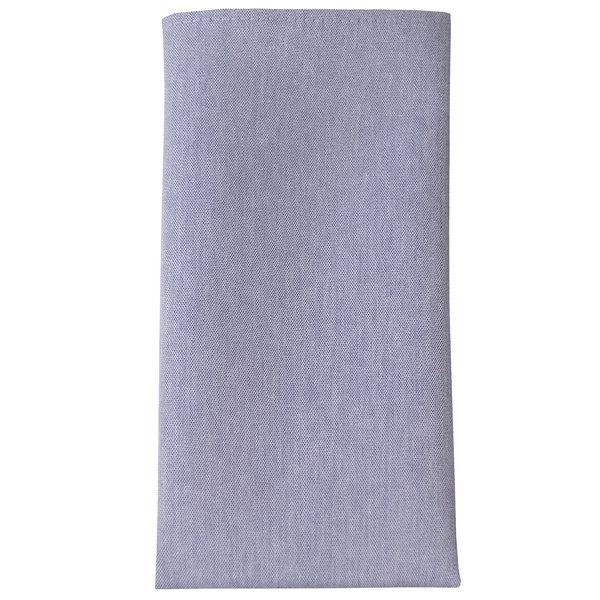 "Snap Drape 54242020NH002 Chambray 20"" x 20"" Solid Blue Cloth Napkin - 12/Pack"