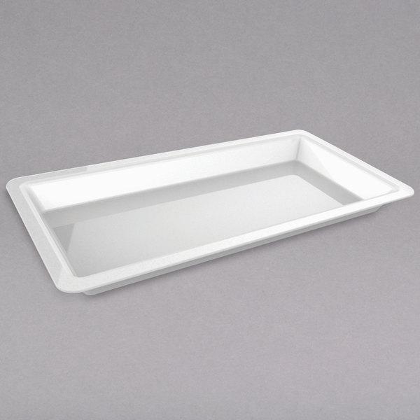 "American Metalcraft C605TP Vidacasa 24"" x 12"" Rectangular Deep White Porcelain Plate"
