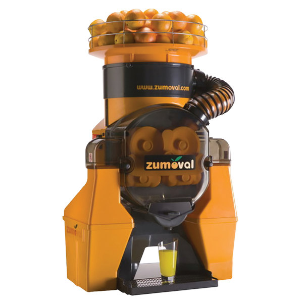 Zumoval Heavy-Duty Compact Automatic Feed Orange Juice Machine with Self Cleaning and Self Tap Features - 28 Oranges / Minute Main Image 1