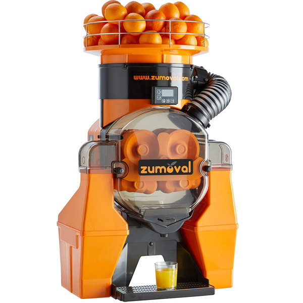 Zumoval Heavy-Duty Compact Automatic Feed Orange Juice Machine - 45 Oranges / Minute Main Image 1