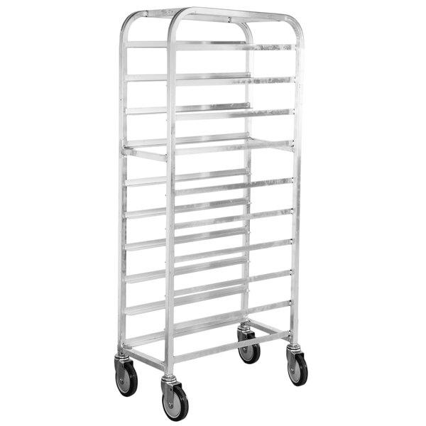 "Winholt SS-1010 End Load Stainless Steel Platter Cart - Ten 10"" Trays Main Image 1"