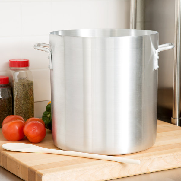 24 Qt. Standard Weight Aluminum Stock Pot
