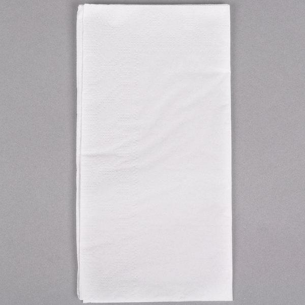 Hoffmaster 03000 17 inch x 17 inch 3-Ply Premium White Dinner Napkin  - 2000/Case