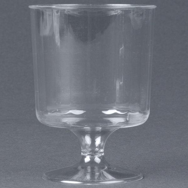 WNA Comet CCW5240 Classicware 5 oz. Clear Plastic Pedestal Wine Cup - 10/Pack
