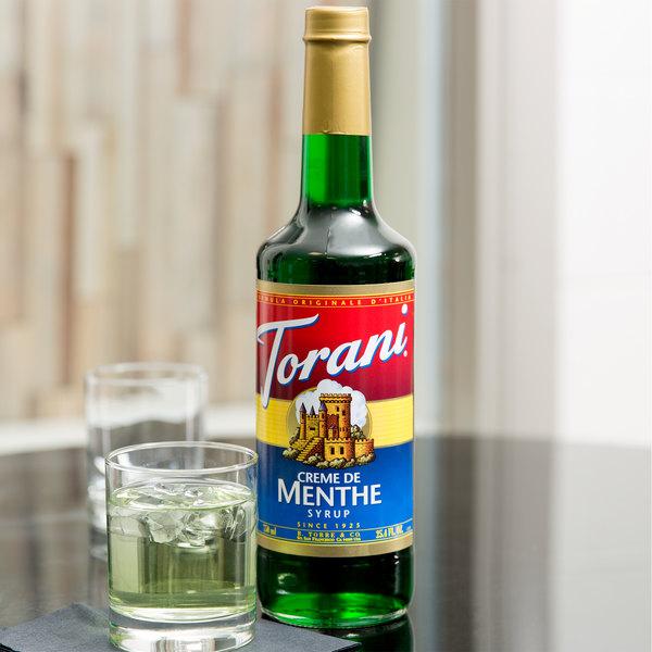 Torani 750 mL Creme de Menthe Flavoring Syrup Main Image 4