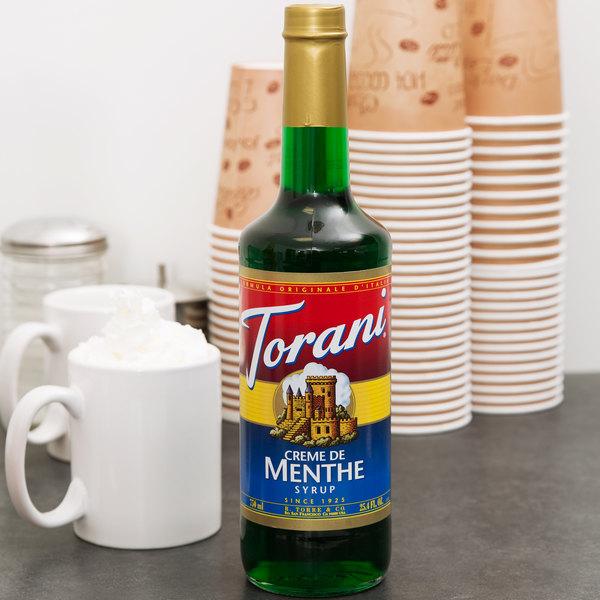Torani 750 mL Creme de Menthe Flavoring Syrup