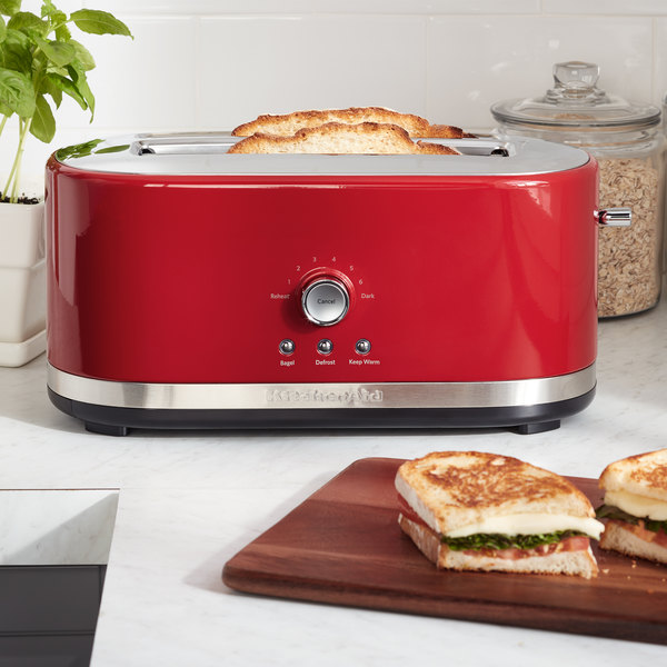 manual zi appliances red toaster with small lever dillards slice empire kitchenaid home lift ovens toasters c