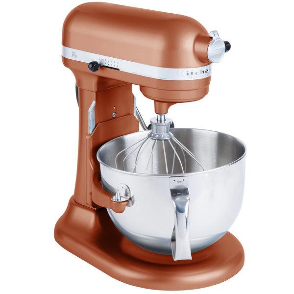 KitchenAid KP26M1XCE Pro 600 Series Copper Pearl 6 Qt. Bowl Lift Countertop  Mixer - 120V