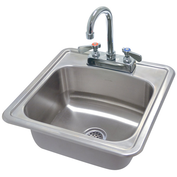 """Advance Tabco DI-1-1515 Drop In Stainless Steel Sink 15"""" x 15"""" - 5 1/2"""" Deep"""
