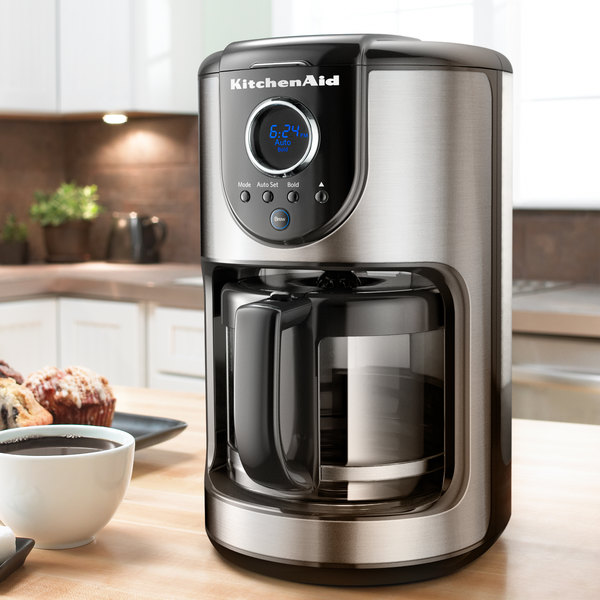 kitchenaid kcm111ob onyx black 12 cup automatic coffee maker 120v - Kitchen Aid Coffee Maker