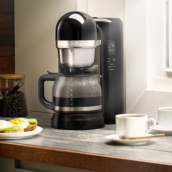 kitchenaid kcm1204ob onyx black 12 cup one touch coffee maker 120v - Kitchen Aid Coffee Maker