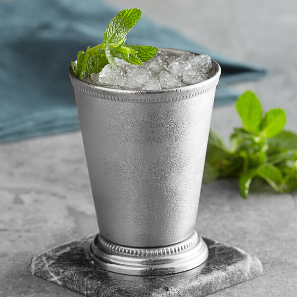 Barfly M37032 12 oz. Stainless Steel Mint Julep Cup with Beaded Trim Main Image 2