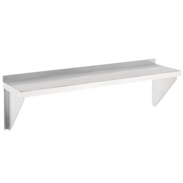 "Channel AWS1248 48"" x 12"" Solid Aluminum Wall Shelf - Unassembled"