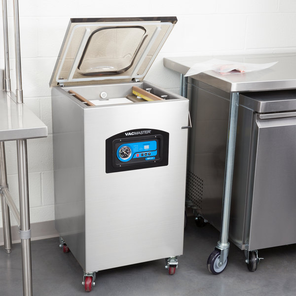 "ARY VacMaster VP325 Floor Model Chamber Vacuum Packaging Machine with Two 16"" Seal Bars Main Image 6"
