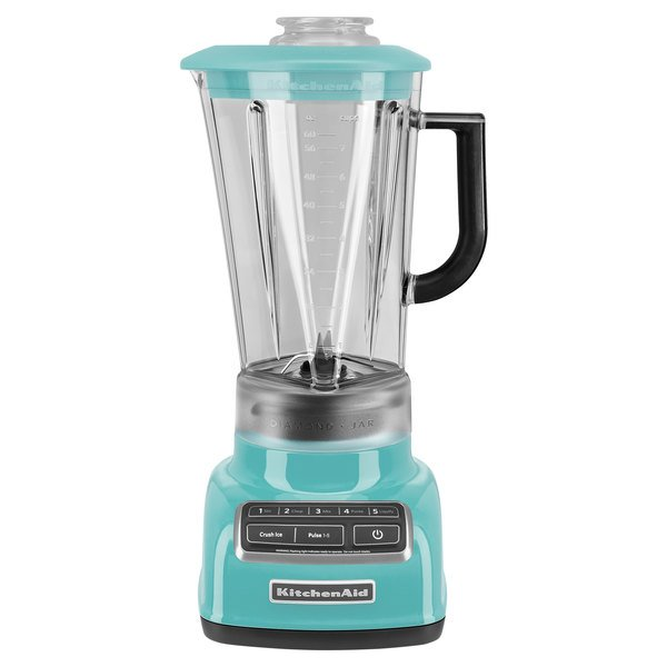 KitchenAid KSB1575AQ Diamond 60 oz. Aqua Sky 5 Speed Blender - 120V