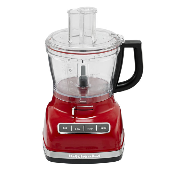 KitchenAid KFP1466ER Empire Red 14 Cup Food Processor with ExactSlice System and Commercial-Style Dicing Kit - 120V