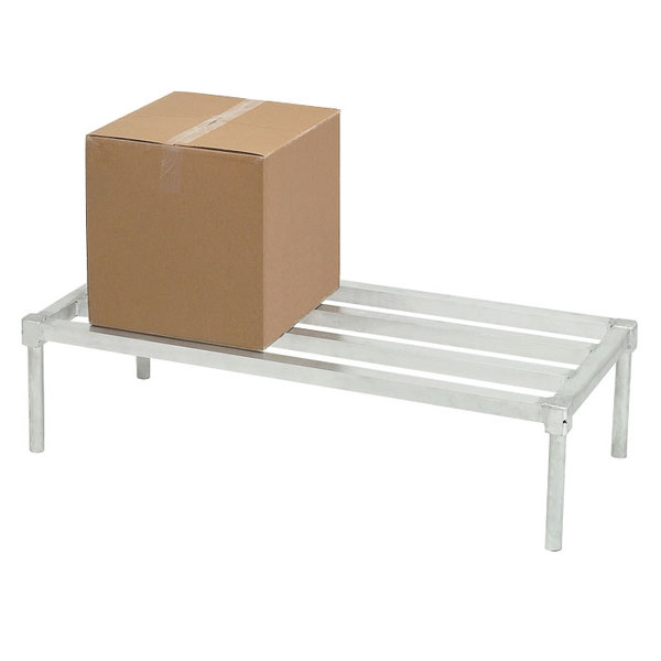"Channel ADE2048KD 48"" x 20"" x 12"" Knock Down Heavy-Duty Tubular Style Aluminum Dunnage Rack - 2200 lb. Capacity Main Image 1"