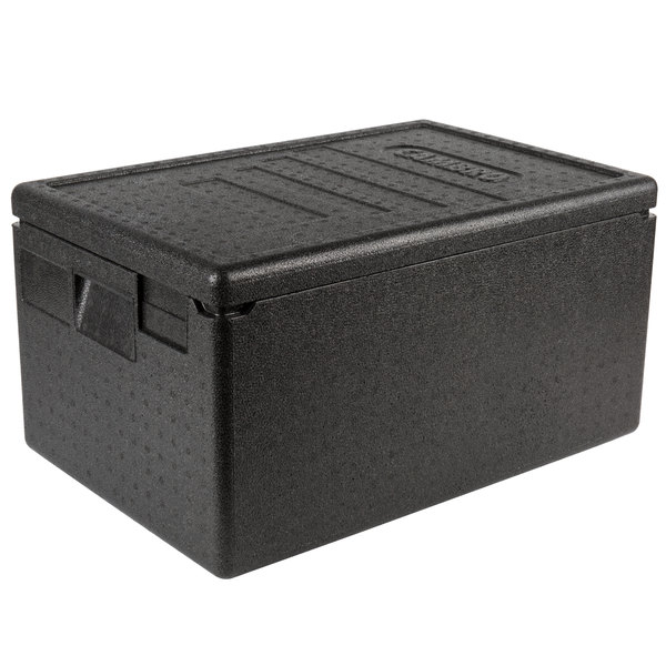 Cambro EPP180SW110 Cam GoBox® Black Full Size Top Loader Insulated Food Pan  Carrier - 23 9/16