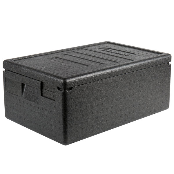Cambro EPP160SW110 Cam GoBox® Black Full Size Top Loader Insulated Food Pan  Carrier - 23 9/16