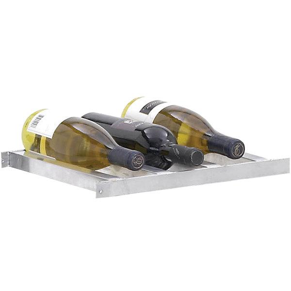 Channel 7502-3 Aluminum 6 Bottle 2 Deep Wine Storage Shelf Main Image 1