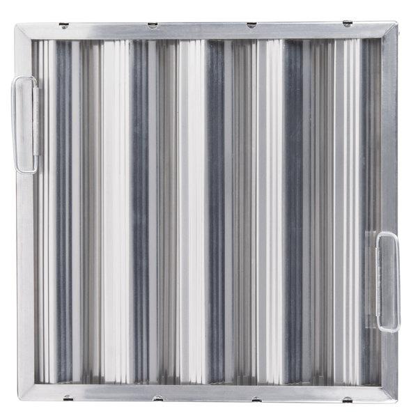 "All Points 26-2262 16""(H) x 16""(W) x 2""(T) Aluminum Hood Filter - Ridged Baffles Main Image 1"