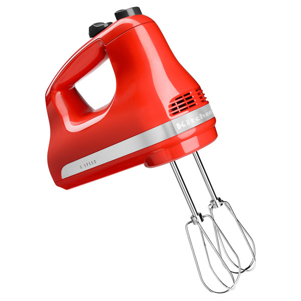 KitchenAid KHM512HT Ultra Power Hot Sauce 5 Speed Hand Mixer with Stainless Steel Turbo Beaters - 120V