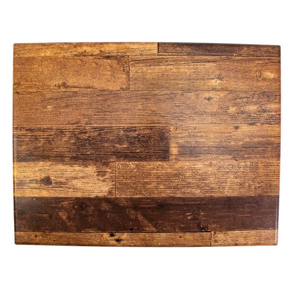 "BFM Seating BW3248 SoHo 32"" x 48"" Barn Wood Rectangular Outdoor / Indoor Tabletop Main Image 1"
