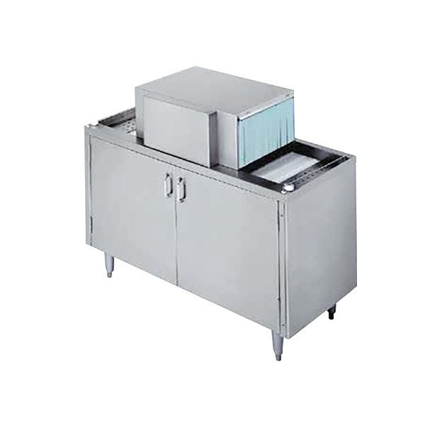 """Champion CG4 Low Temperature 48"""" Pass-Through Glass Washer, Right to Left - 208/230V"""