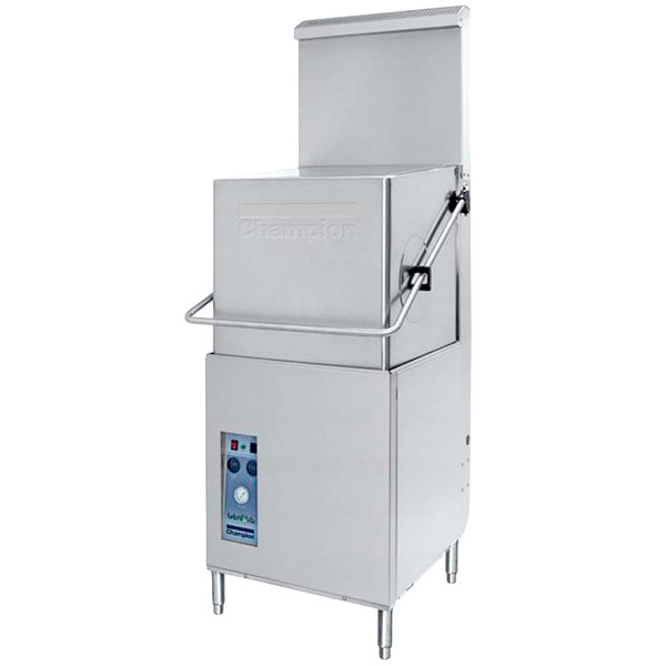Champion DH5000 VHR Ventless Single Rack High Temperature Hood-Type Dishwasher - 208/240V, 3 Phase
