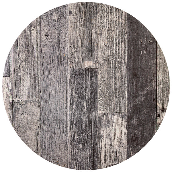 """BFM Seating RG36R SoHo 36"""" Rustic Gray Round Indoor / Outdoor Tabletop Main Image 1"""