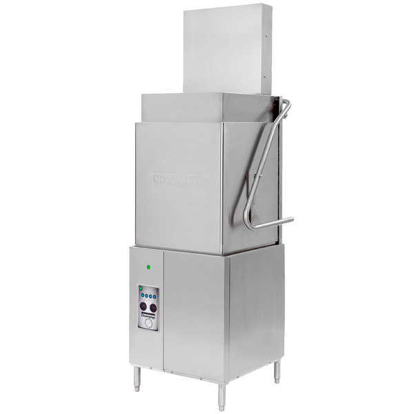 Champion DH5000T VHR Ventless Single Rack High Temperature Tall Hood-Type Dishwasher - 208/240V, 1 Phase