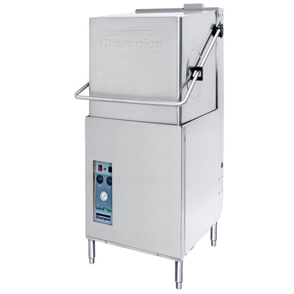 Champion DH5000 Single Rack High Temperature Hood-Type Dishwasher, no Booster Heater - 208/240V, 1 Phase