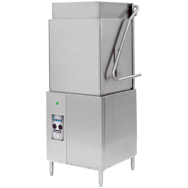Champion DH5000T Single Rack High Temperature Tall Hood-Type Dishwasher, no Booster Heater - 208/240V, 3 Phase