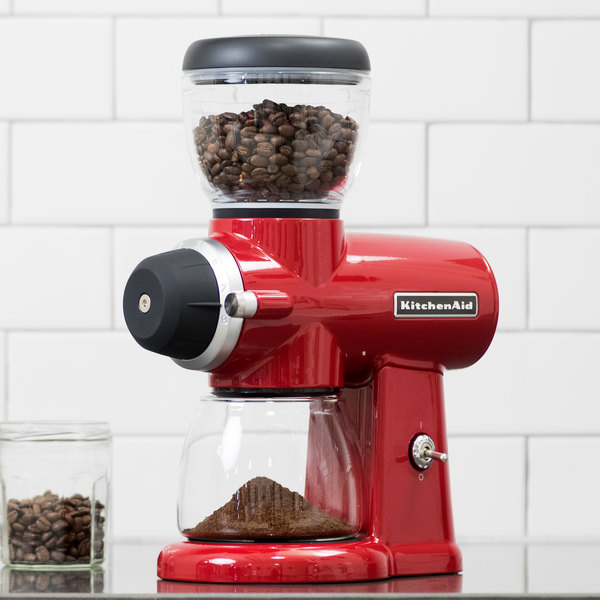 KitchenAid KCG0702ER Empire Red Automatic 7 oz. Coffee Grinder