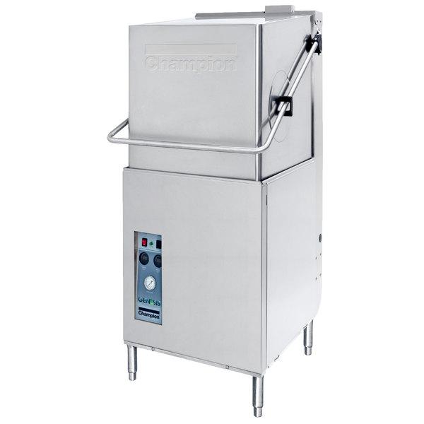 Champion DH5000 Single Rack High Temperature Hood-Type Dishwasher - 208/240V, 3 Phase