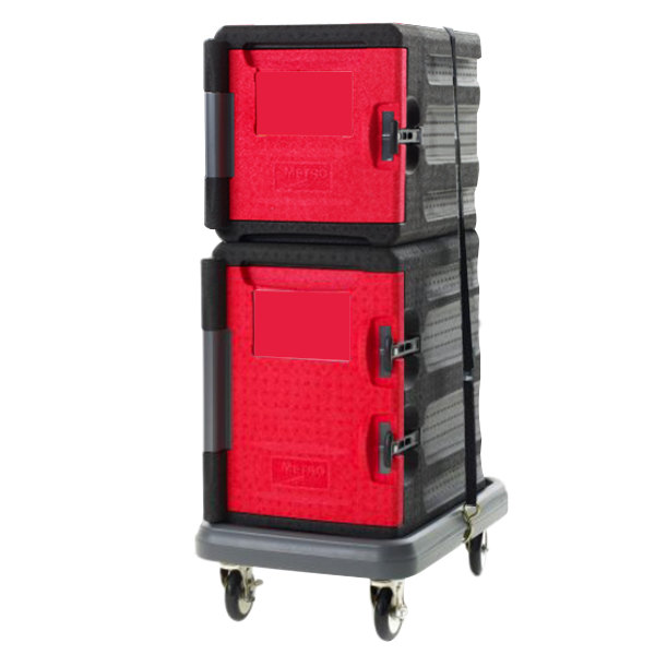 Metro Mightylite Front Loading Full Size Insulated Pan Carrier Kit with 4 Pan Carrier, 6 Pan Carrier, and Dolly