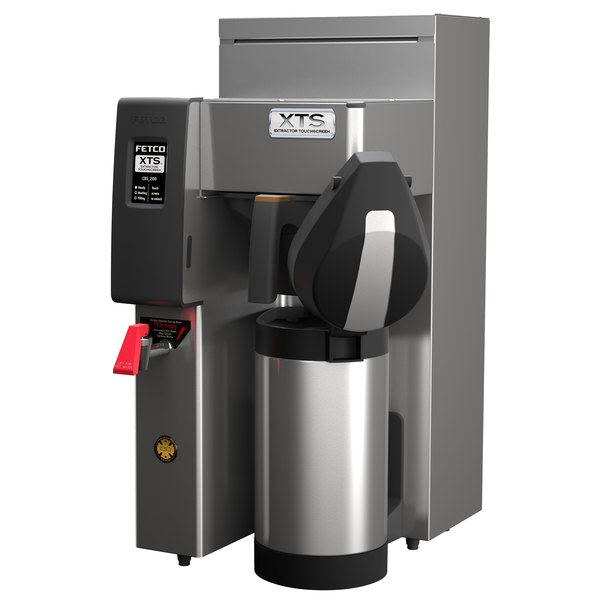 Fetco CBS-2131XTS E213157 XTS Series Stainless Steel Single Automatic Coffee Brewer - 240V, 2200-3100W