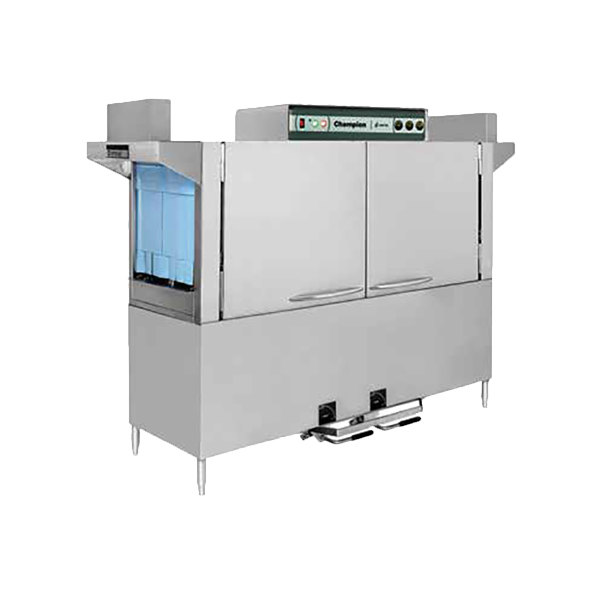Champion E-Series 84 Dual Tank High Temperature Conveyor Dishwasher, Right to Left - 240V, 1 Phase