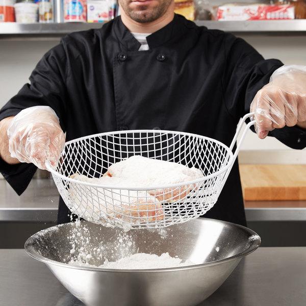 """12"""" Coated Coarse Mesh Breading Basket Main Image 7"""