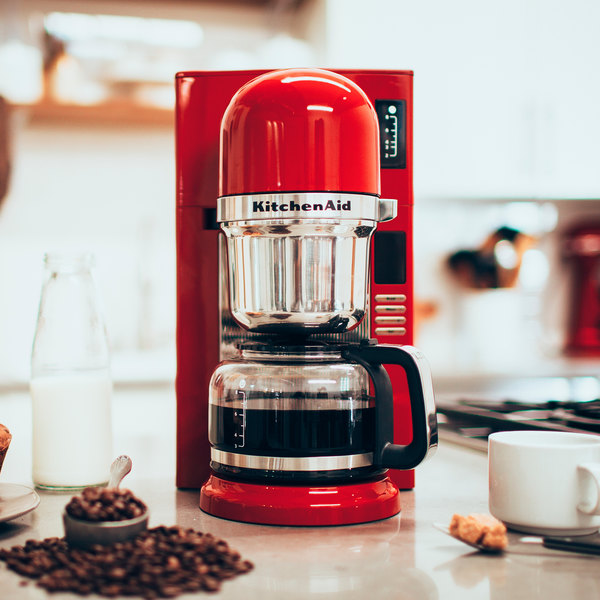 Pleasing Kitchenaid Kcm0802Er Empire Red 8 Cup Custom Automatic Pourover Coffee Maker 120V Home Remodeling Inspirations Gresiscottssportslandcom
