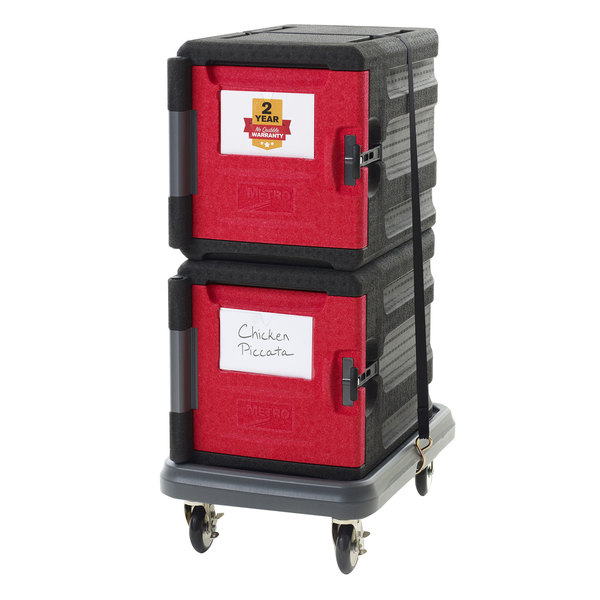 Metro Mightylite Front Loading Full Size Insulated Pan Carrier Kit with Two 4 Pan Carriers and Dolly